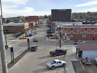 The revitalization of Gillette's downtown district was a strategic move by local officials to foster more community. Downtown plays host to a farmers market, a beer festival and an ice sculpture festival, to name a few events. (Brittany Patterson)