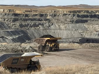 In 2015, the Eagle Butte mine employed 290 people and produced nearly 20 million short tons of coal, making it one of the smaller operations in the Powder River Basin. (Brittany Patterson)