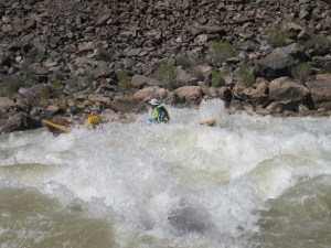 John Metcalfe navigate's his dory through Colorado River whitewater in the Grand Canyon, no handholding required. (Courtesy of Geoffrey O'Gara)
