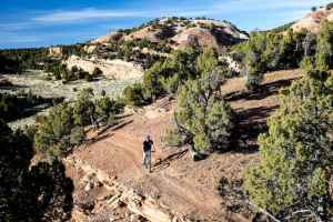 The Lander BLM office proposes to withdraw about 5,000 acres of public land from attempts to mine for gold, gypsum, and other minerals, in order to protect the Johnny Behind the Rocks mountain biking recreation area. (courtesy of Bob Wicks/BLM)