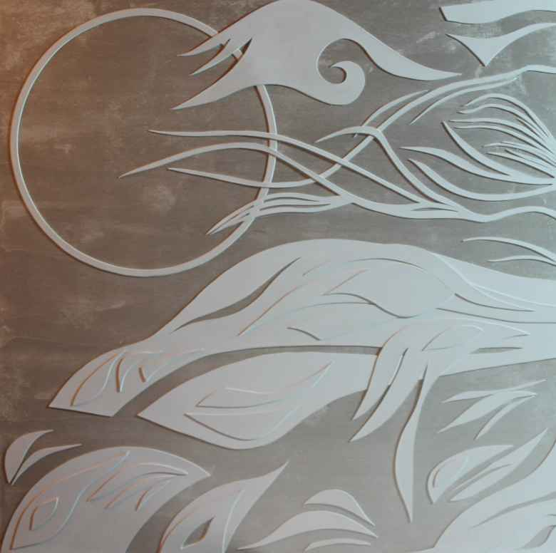 Moon Dance, a handcut paper on wood image by W. Lemen Bredehoft