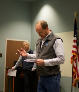 """DEQ Director Todd Parfitt: """"Just to be clear, the only thing that we have made a statement about regarding the oil and gas involvement is that we could not find a link between hydraulic fracking and anything in the wells. And we stand behind that. That doesn't mean there isn't some other activity associated with oil and gas development that may be contributing to basic palatability issues with the water."""""""