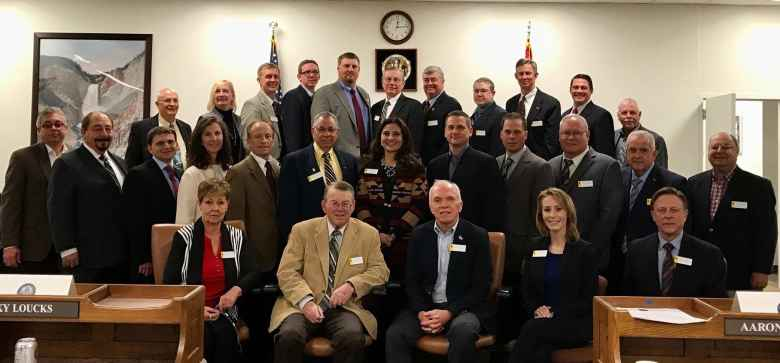 New lawmakers pose for a portrait before the 64th Legislature. There are 20 new members of the House and six new members of the Senate. (Majority Site of the Wyoming Legislature Facebook page)