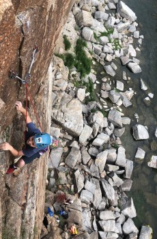 Fremont Canyon is a perfect place for kids in the Casper Wyoming area to learn how to rock climb in Wyoming Mountain Guides' Youth Climbing Camps!