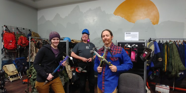 NU2U Sports in Laramie Wyoming carries a wide selection of climbing gear and their knowledgable staff will help you find just what you need for your upcoming trip with Wyoming Mountain Guides