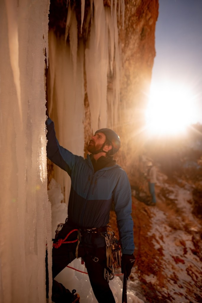 Wyoming Mountain Guides' ice climbing guides are experienced ice climbing instructors who will help you progress your ice climbing movement, technique, and safety skills