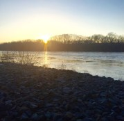 Sunset at the Riverside Photo by Molly Briana McMullen (April 13, 2015)