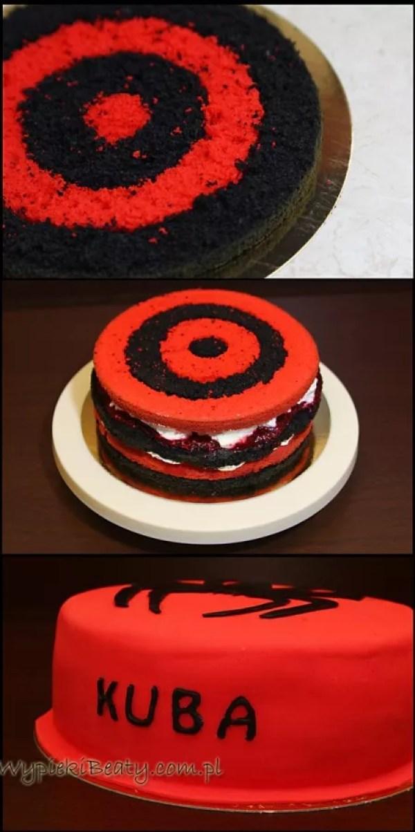 czerwono-czarny tort kuby1