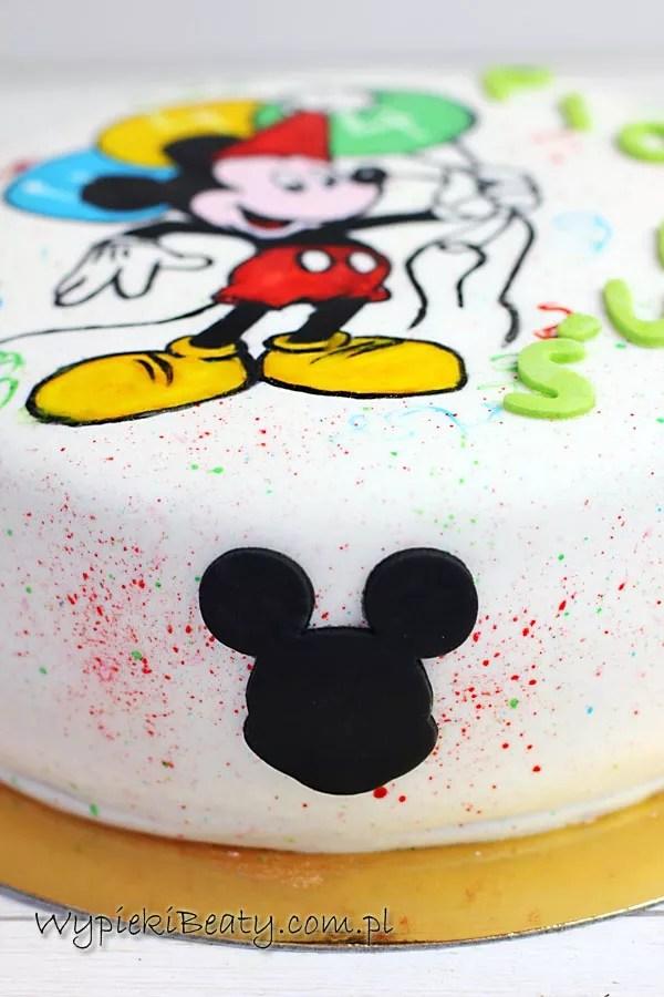 tort z malowaną Myszką Miki