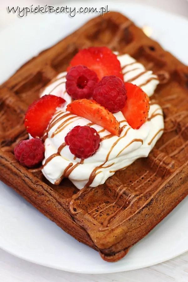 gofry czekoladowo-bananowe3