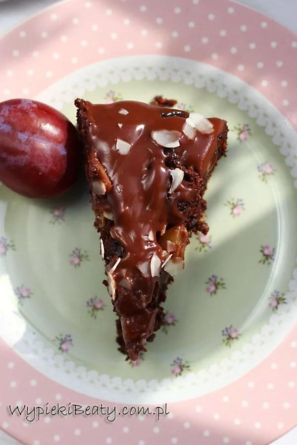 ciasto czekoladowe śliwkowo-gruszkowe3