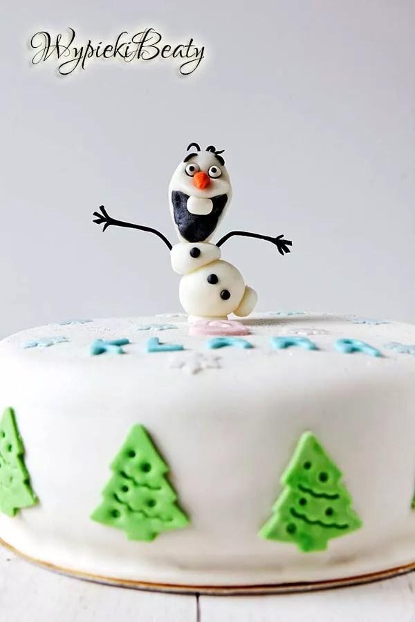 tort z olafem cake frozen