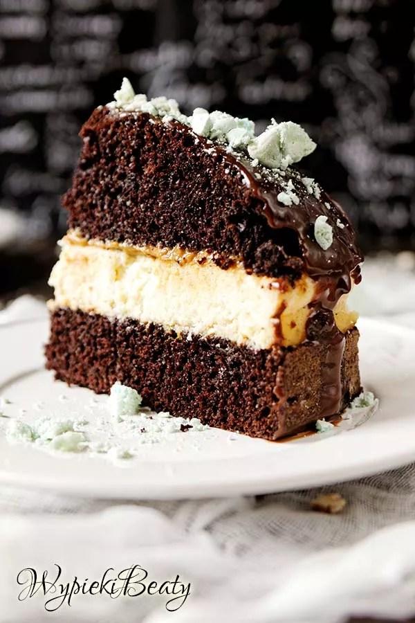 torcik czekoladowy z sernikiem 10