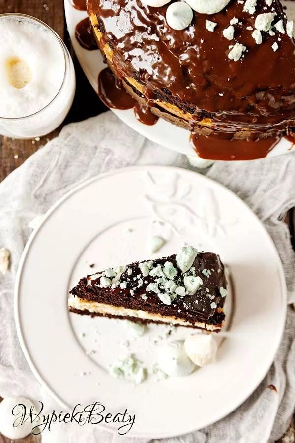 torcik czekoladowy z sernikiem 12