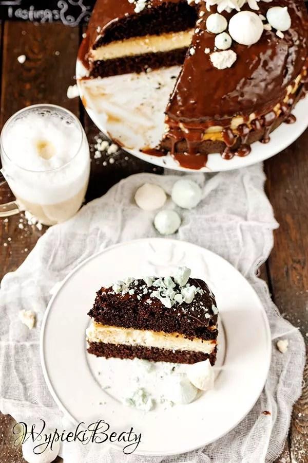 torcik czekoladowy z sernikiem 7