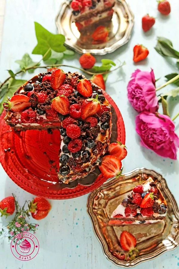 dietetyczne ciasto czekoladowe z owocami 6