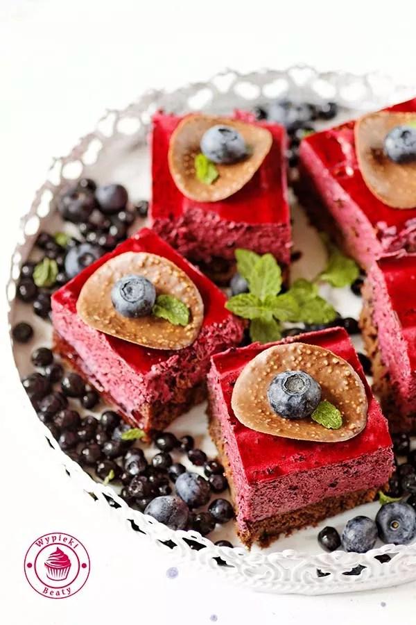 brownie z jagodowym musem 1