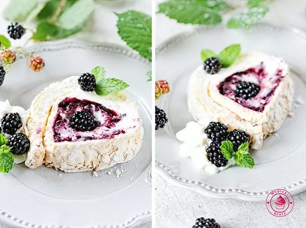 blackberries roulade