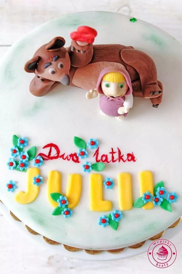tort masza i niedźwiedź
