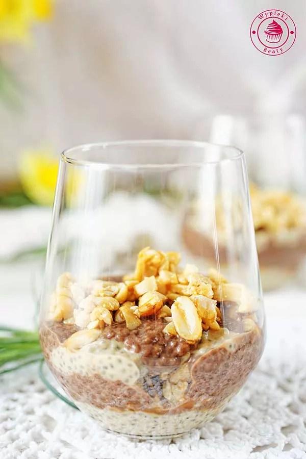 pudding chia czekoladowo-orzechowy