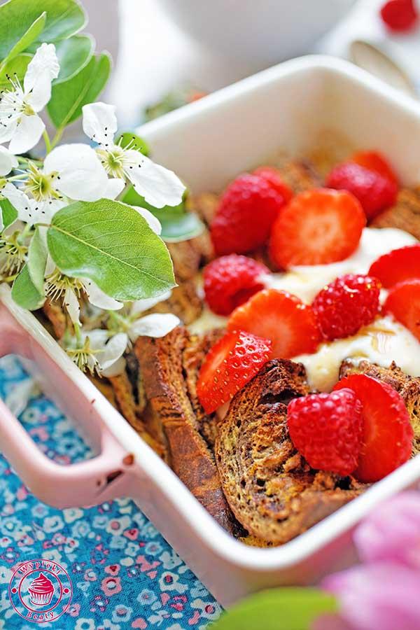 tosty francuskie z owocami