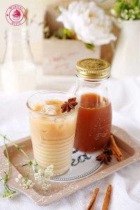 domowa ice tea z korzennymi przyprawami jak kawa ze starbucksa