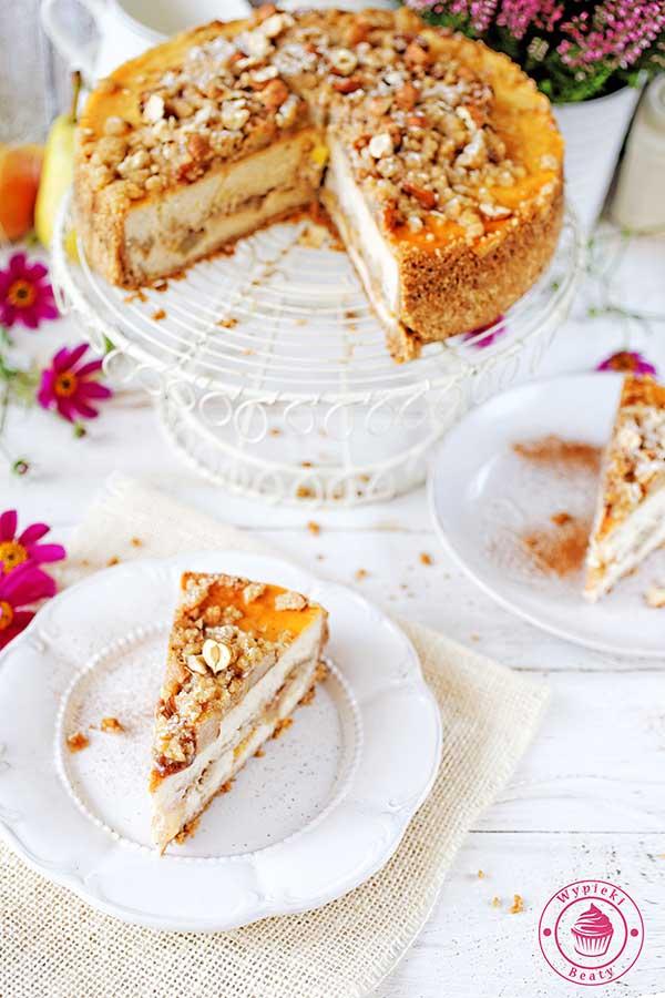 ciasto z gruszkami i kruszonką
