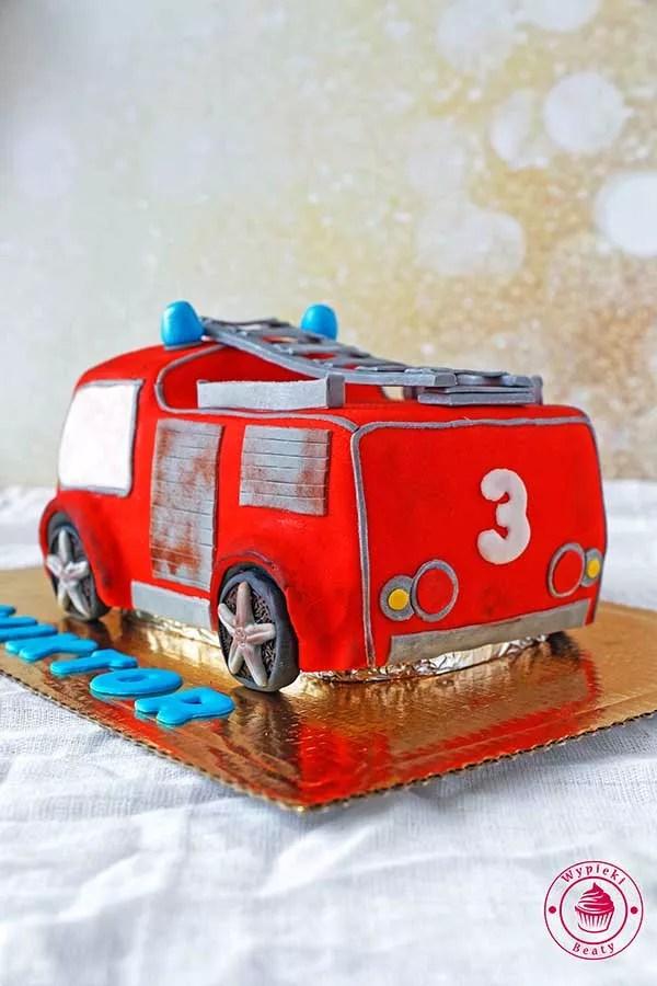 straż pożarna tort