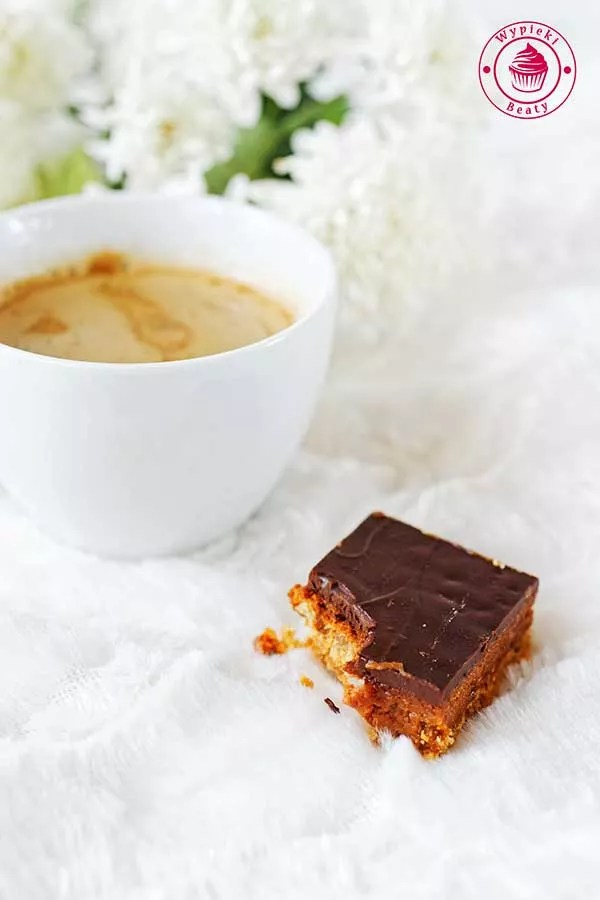 kostka karmelowa z czekoladą