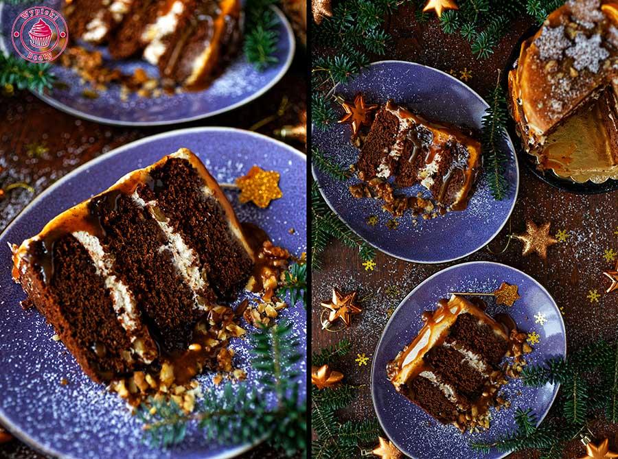 tort czekoladowy z winem i kremem