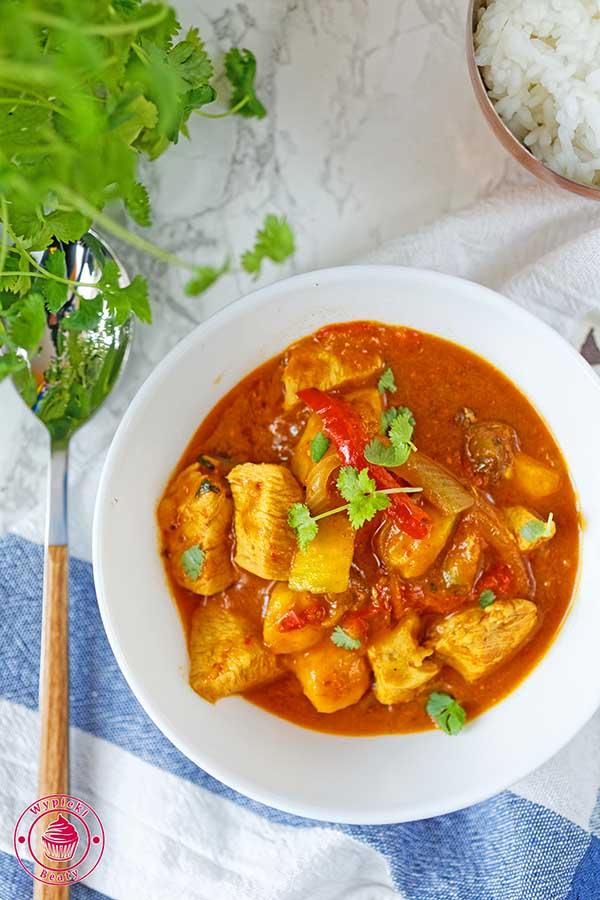 proste i szybkie curry z kurczakiem