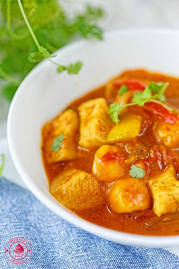 curry z mango i kurczakiem