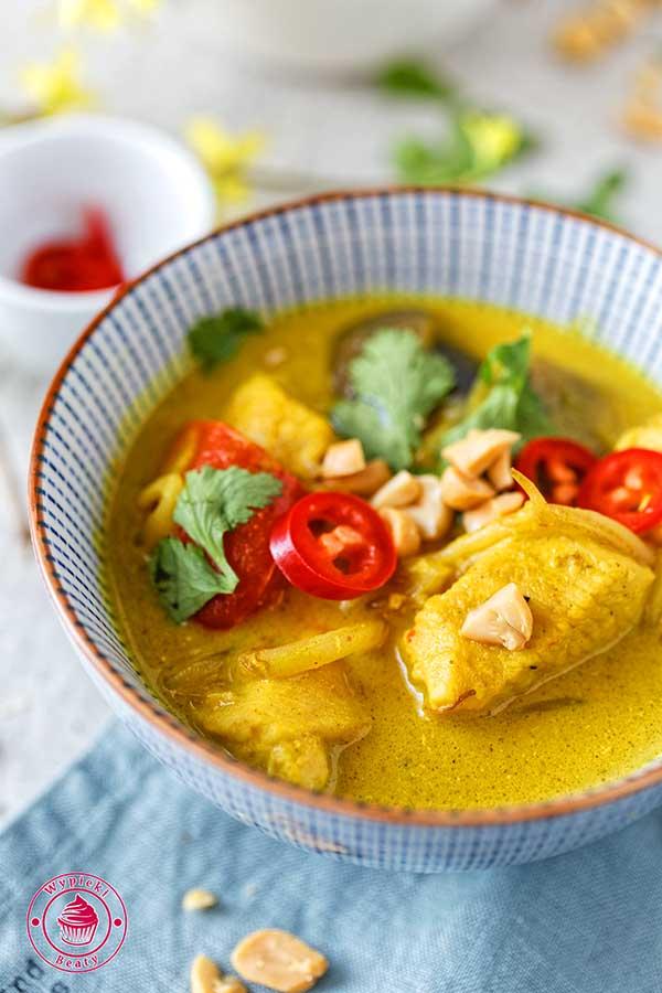kurczak curry kokosowo-orzechowy
