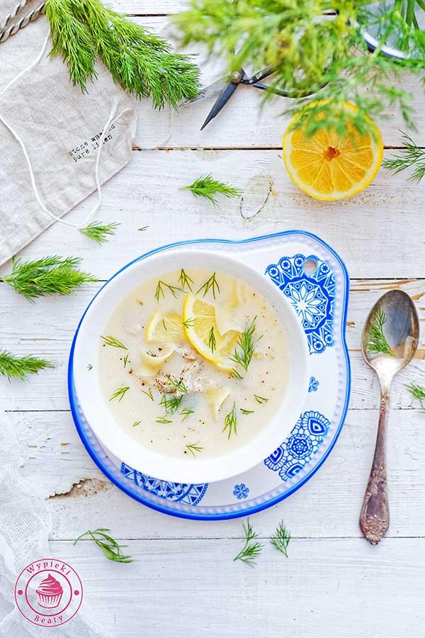 grecka zupa cytrynowa