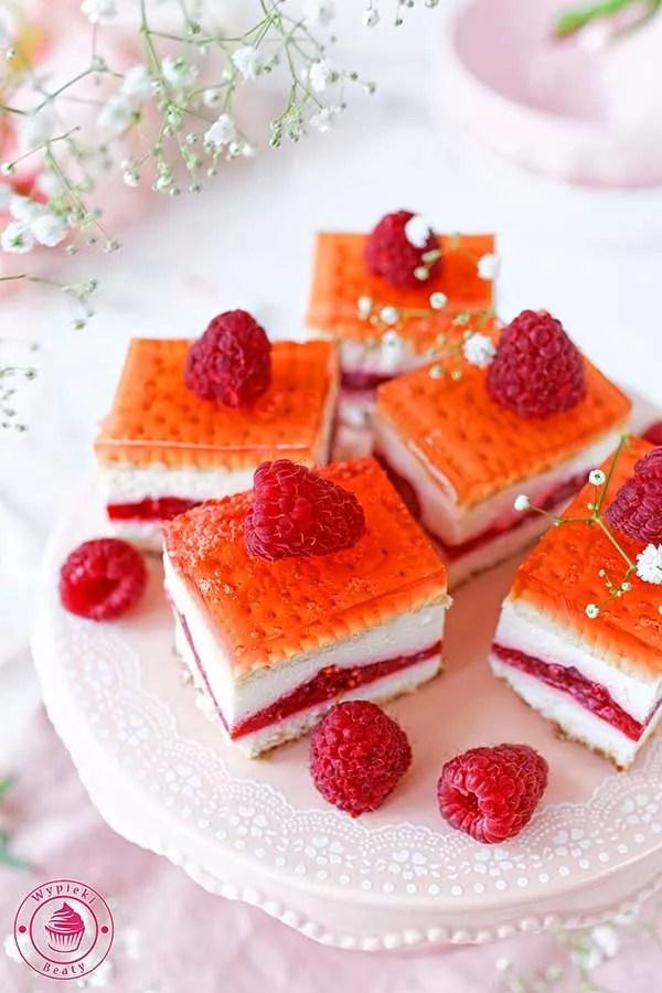 ciasto malinowe na zimno