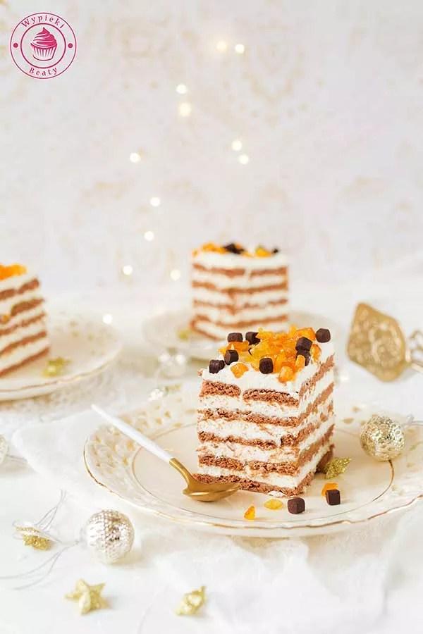 kostka czekoladowo-pomarańczowa bez pieczenia