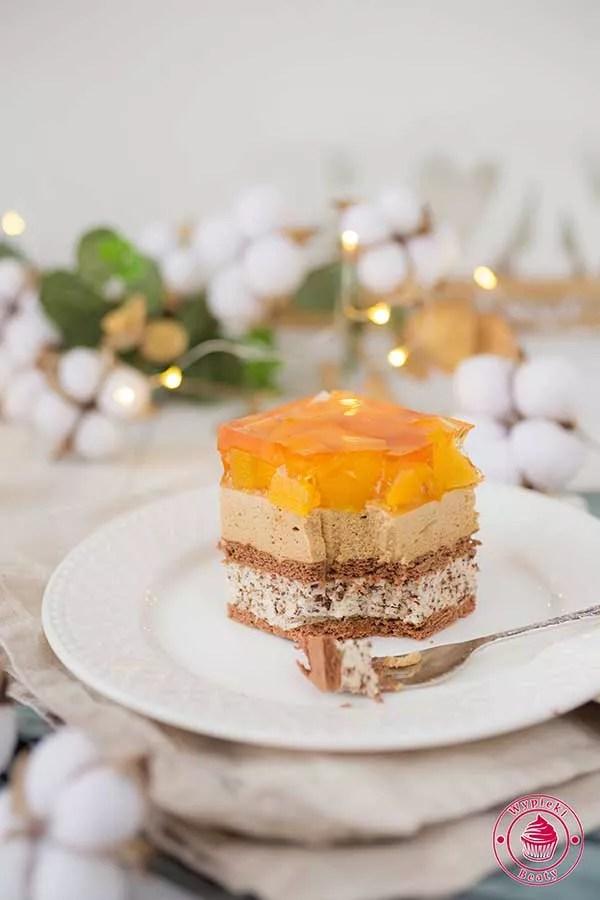 ciasto czekoladowo-brzoskwiniowe