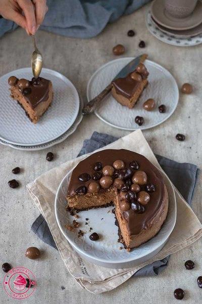 czekoladowy sernik z ciasteczkami