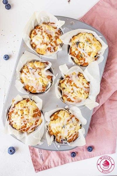 muffinki z owocami i kruszonką