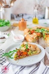 rustykalna tarta z warzywami