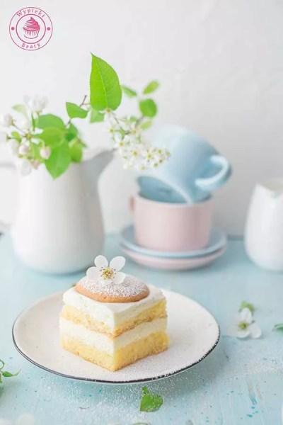 lekkie ciasto z kremem z serków homogenizowanych