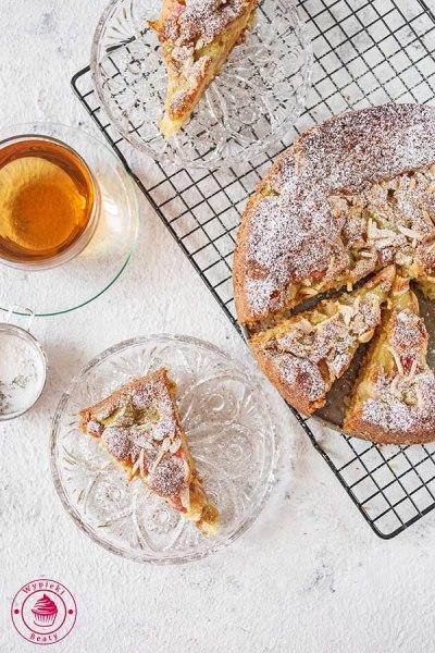 proste ciasto rabarbarowe