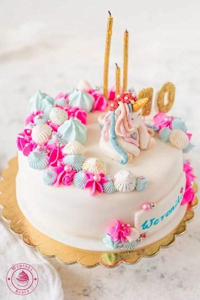 tort z jednorożcem