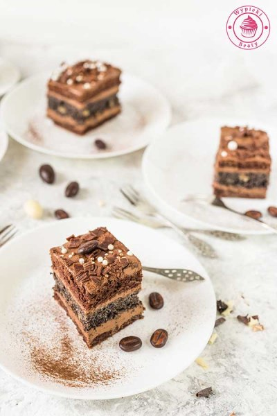 makowiec z kremem czekoladowym