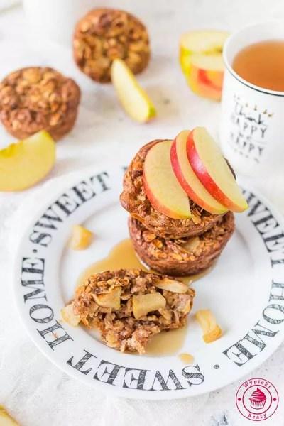 zdrowa pieczona owsianka z jabłkami