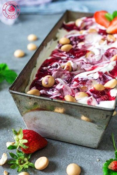 proste lody z owocami