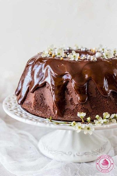 czekoladowa babka z polewą czekoladową