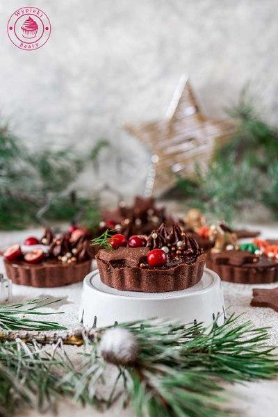 krucha tarta piernikowo-czekoladowa