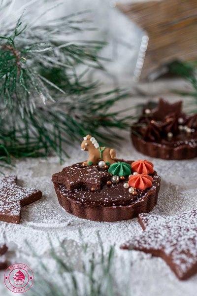 czekoladowa tarta na boże narodzenie