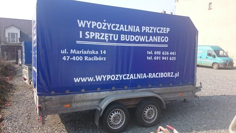Przyczepa towarowa lekka sidecar (3,4m dł) - wypożyczalnia Racibórz